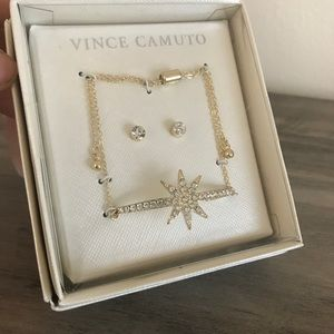 Vince Camuto Gold Bracelet and Earrings Set NIB